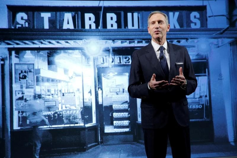 Starbucks exec Schultz to step aside, mulling 'range of options'