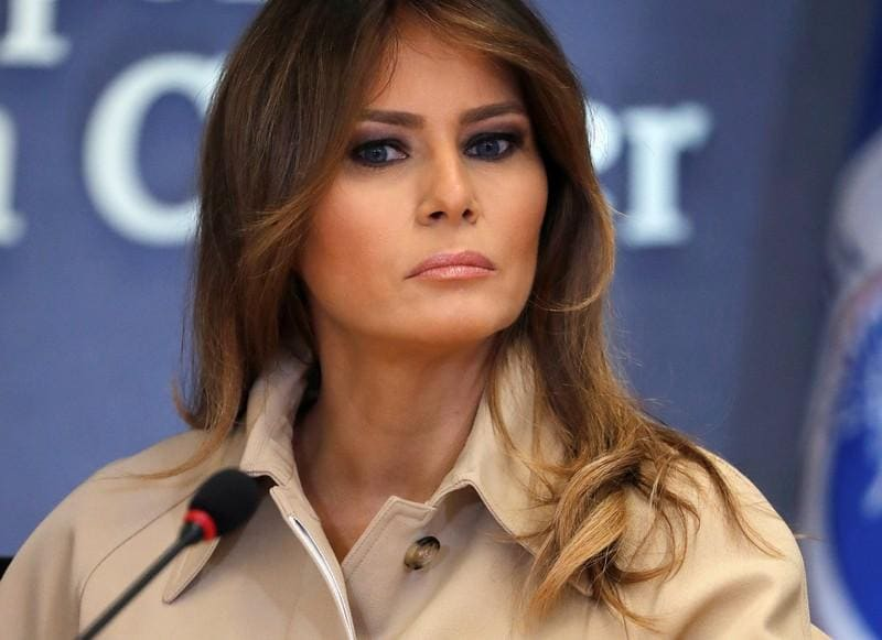 U.S. first lady Melania Trump makes first public appearance in weeks