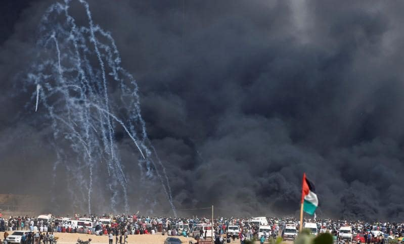 Israeli troops kill 4 Palestinians as Gaza protest resumes
