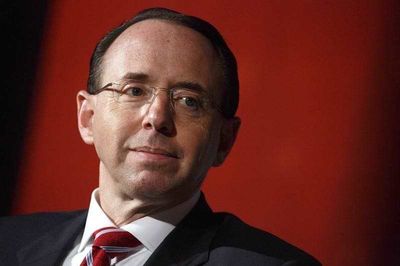 U.S.'s Rosenstein calls for global collaboration on crime amid trade tension