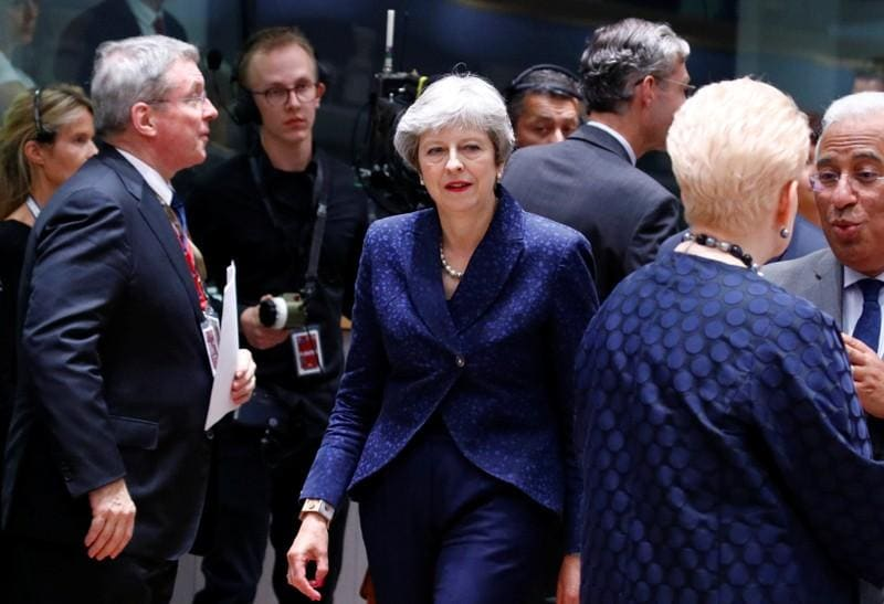 Protect your people, Britain's May urges EU leaders