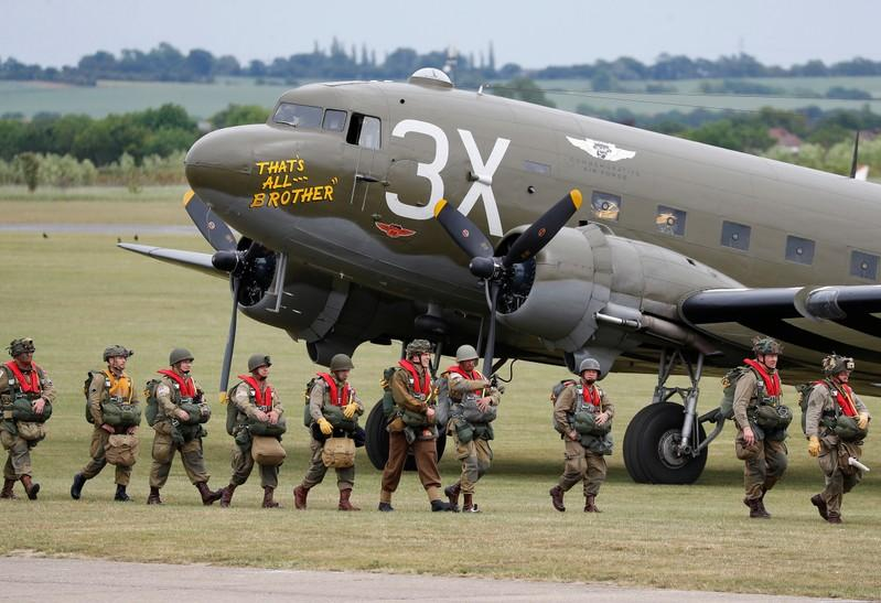 British veterans parachute over Normandy 75 years after making D-Day jump