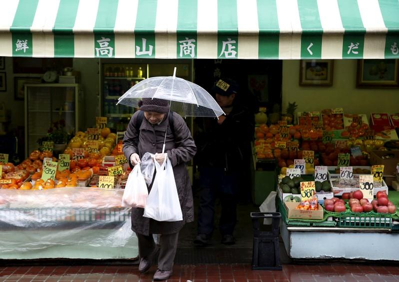 Japan household spending rises but wages down in April