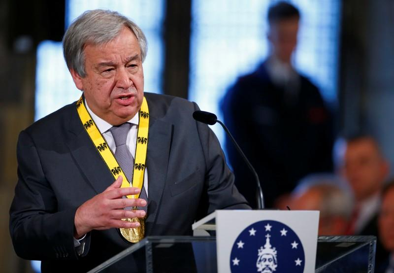 UN chief condemns oil tanker attacks says independent probe needed