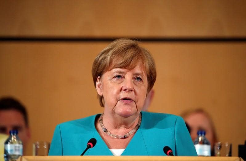 German SPDs record low in poll puts strain on Merkels coalition