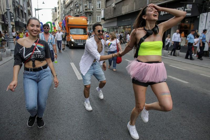 Thousands march in Romanian capitals pride parade