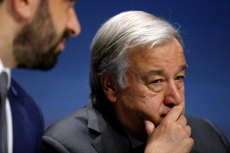 U.N. chief says important Mideast peace efforts realise two-state vision