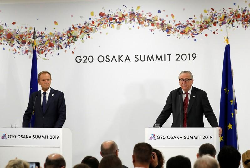 EU leaders warn of damage to global growth from trade war