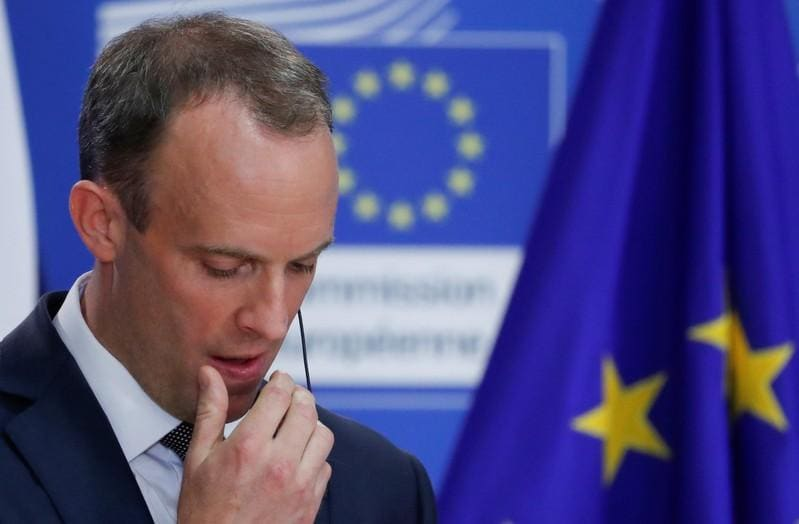 UK's Raab confident over Irish backstop, says must be time-limited