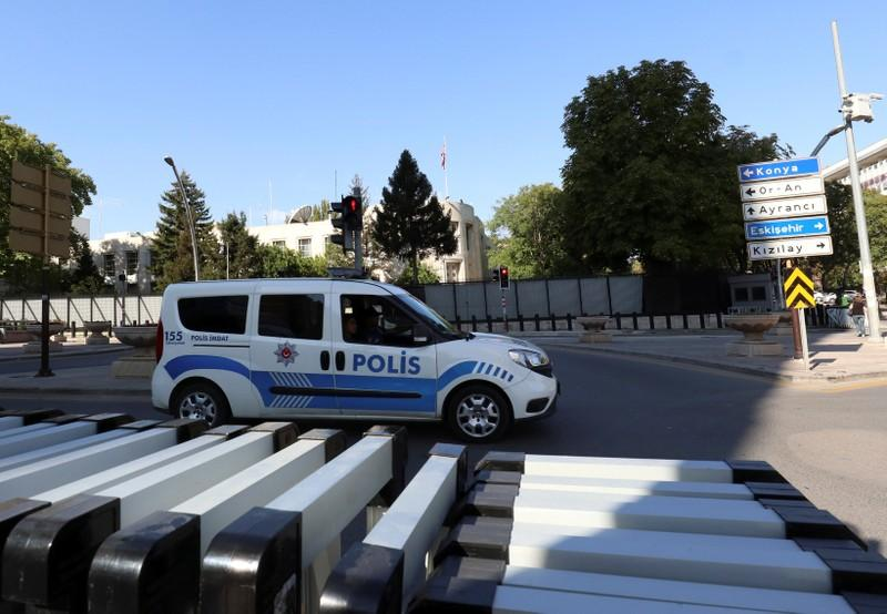 Turkey detains two men over shooting at U.S. embassy in Ankara