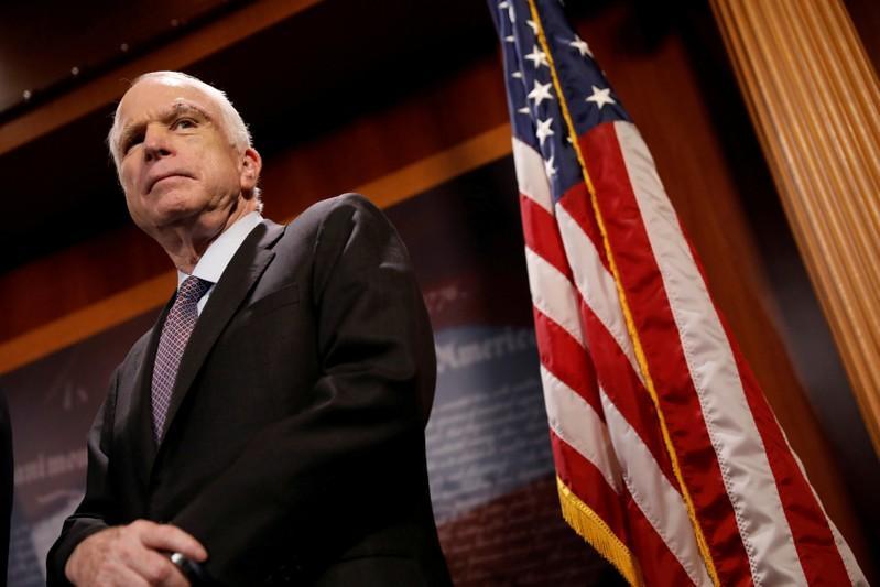 Corrected: Republican U.S. Senator McCain ending medical treatment for brain cancer