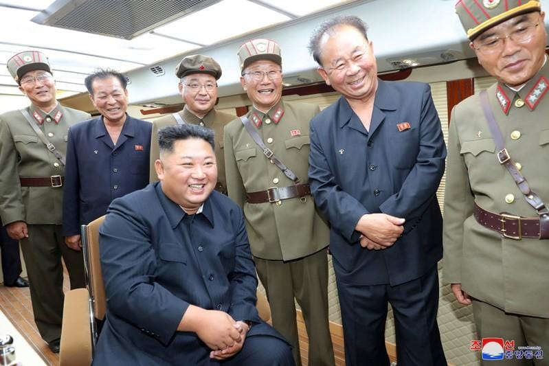 North Koreas Kim oversaw the testfiring of new weapon again KCNA