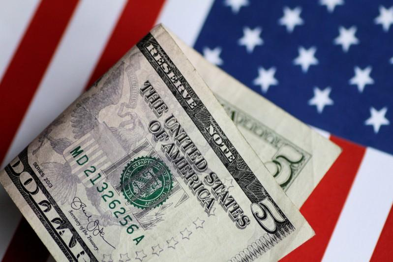 Correction Dollar near threeweek high as thaw in risk aversion lifts yields