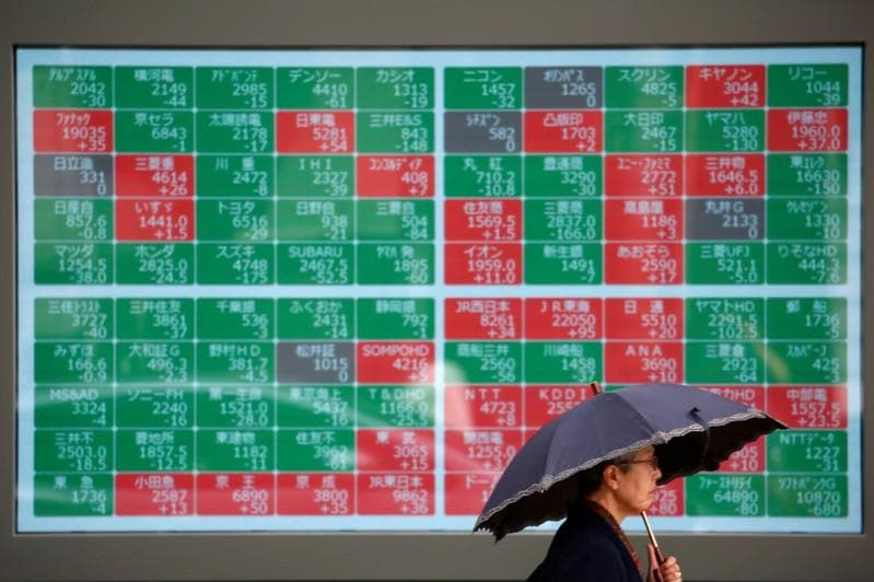 Asian shares fall on recession fears eyes on Fed minutes