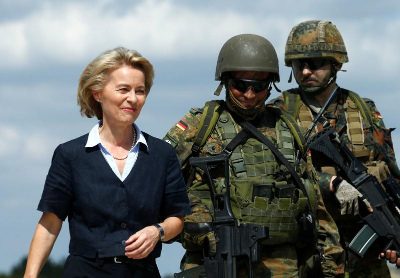 German minister can't rule out longer-term military role in Middle East