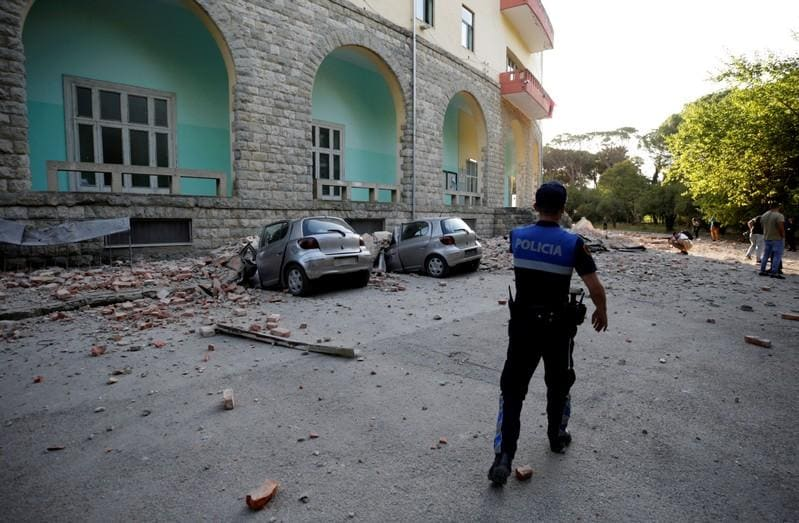 Magnitude 56 earthquake rocks buildings in Albania