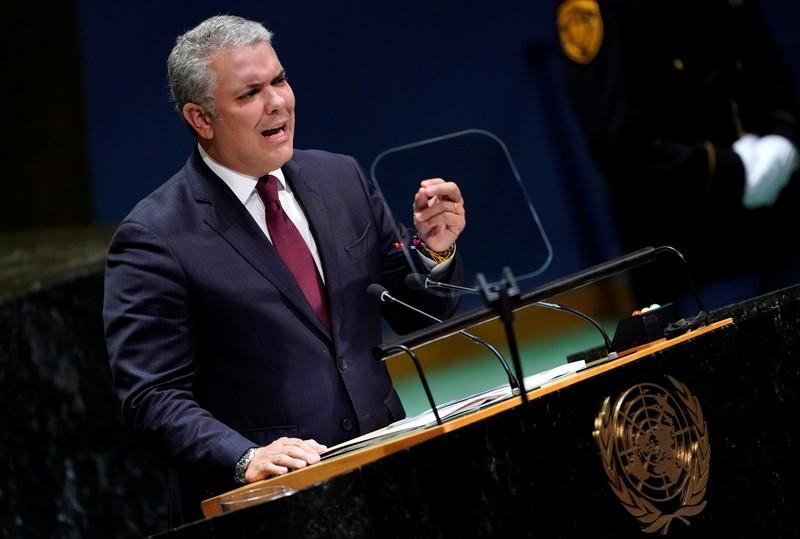 Colombias Duque tells UN that dossier proves Maduro supports terrorists