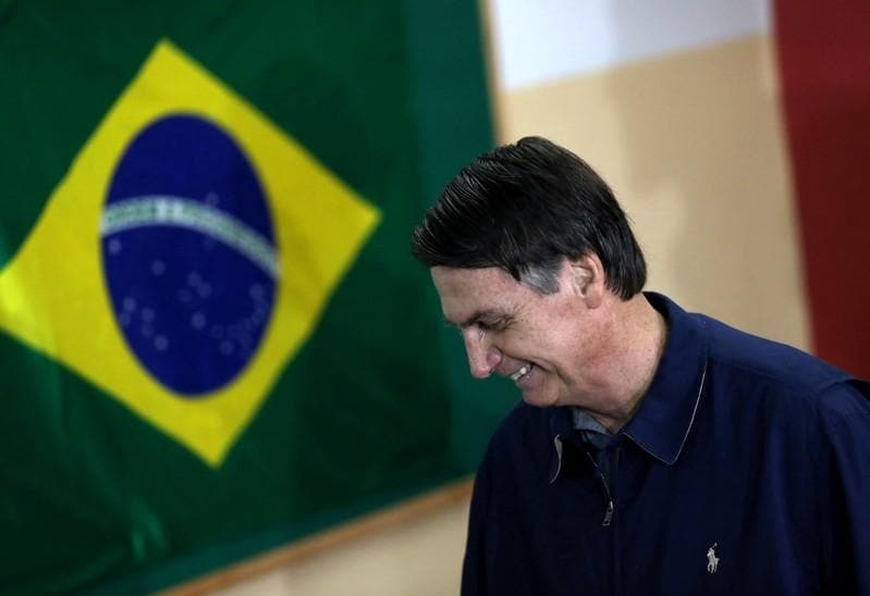 Brazil votes for new president, far-right Bolsonaro in lead
