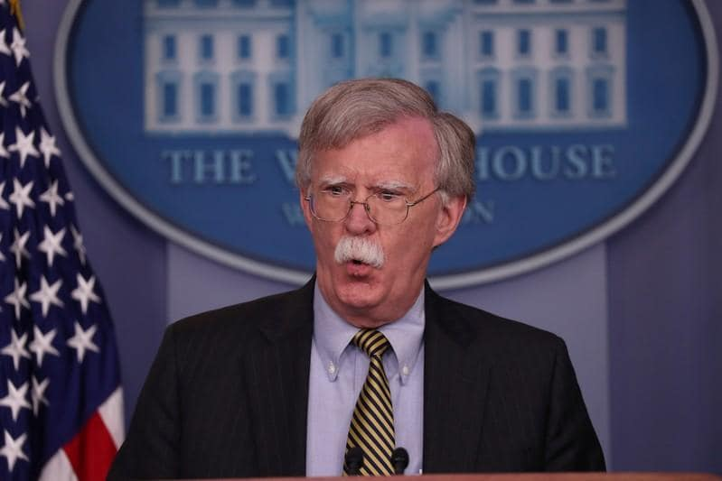 U.S. security adviser Bolton vows tougher approach to China