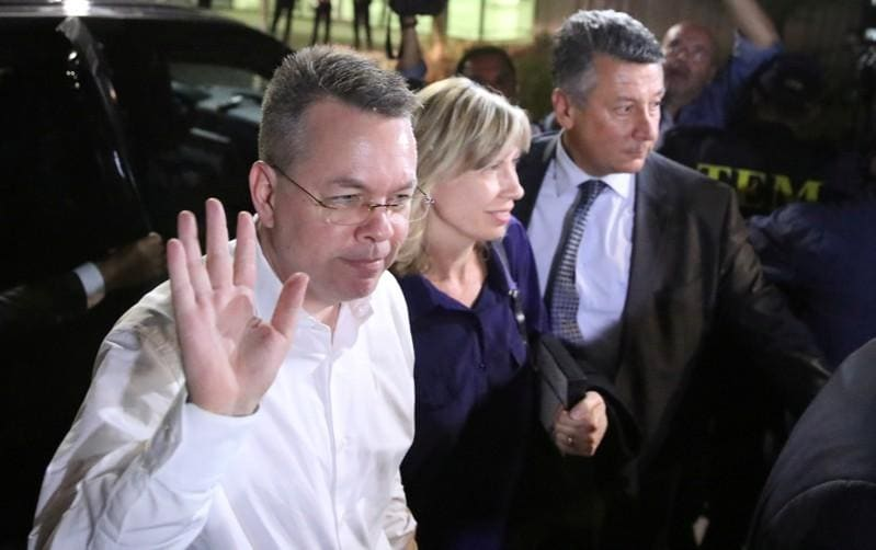 Brunson arrives in Washington after being freed from Turkey