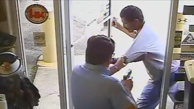 Florida city official charged in store shooting caught on video