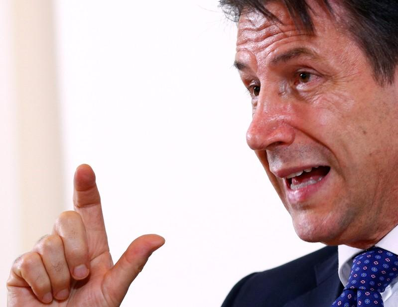 Italy PM Conte says 2019 deficit/gdp goal