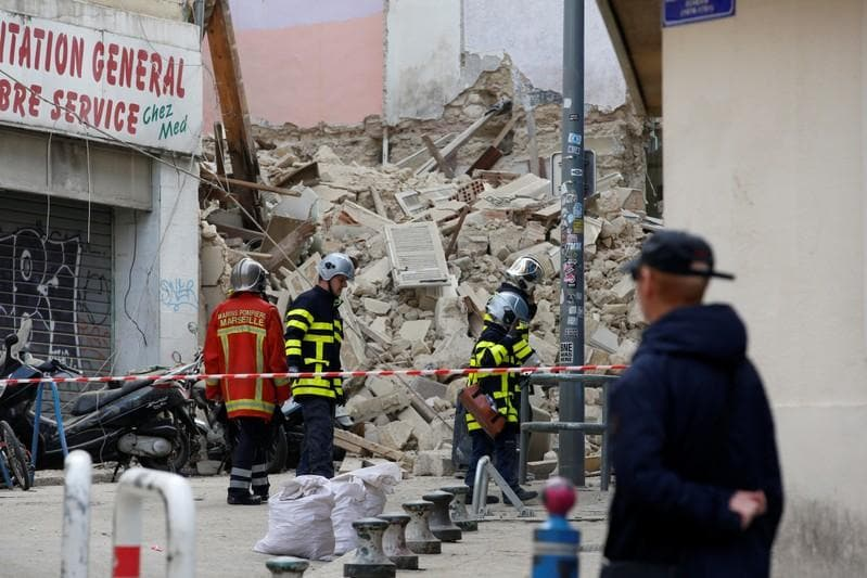 Seventh body found under collapsed buildings in French city of Marseille