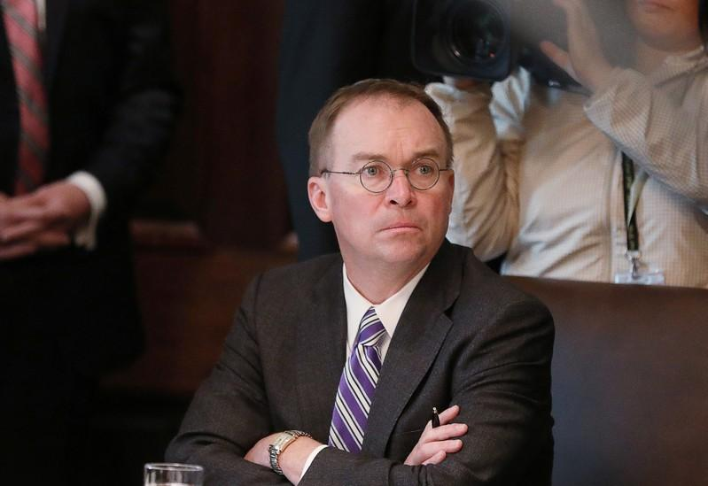 US House committees seek deposition with Trump chief of staff Mulvaney in impeachment probe