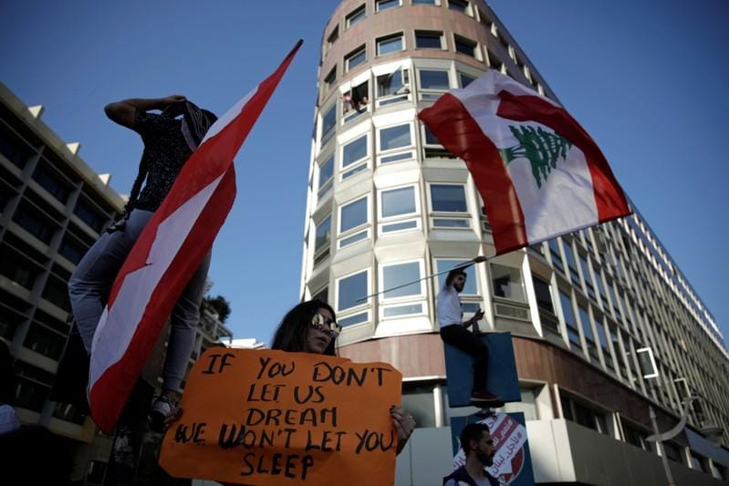 Aoun says Lebanese government must include politicians urges protesters to go home