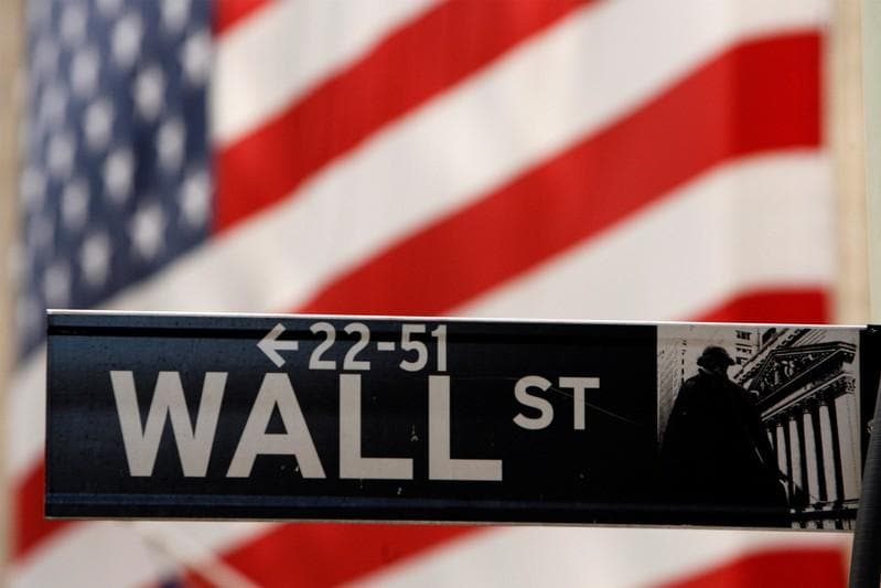 Wall Street ends flat as nervous investors flock to defensive shares